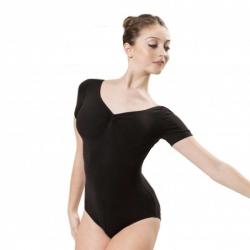 7a3a5058c78 Alista Dancer Basics Etude Zwart Balletpakje Korte Mouw voor volwassenen
