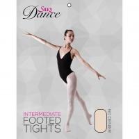 Silky Dance roze balletpanty met voet voor meisjes