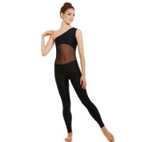 Ballet Rosa Magali Unitard Zwart met Open Schouder