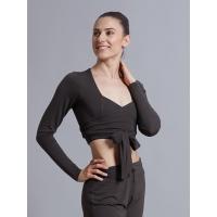 Ballet Rosa Mai Wikkeltop met Lange Mouw voor Dames