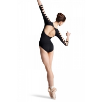 Bloch zwarte Balletpak met 3/4 mouwen Macie L6106