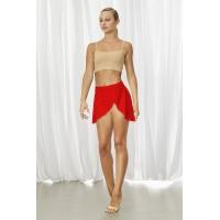 rode Dames BalletRok bloch R3521 Jaylyn overslag voor