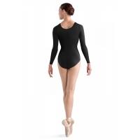 Bloch zwart balletpakje met lange mouw Lepsi L5609