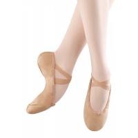 Bloch Pump Split zool Canvas balletschoenen huidskleur