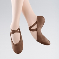 Bloch Pump Split Sole Canvas Ballet Shoe Bruin