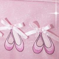 Roze danstasje met glitters en balletschoenen print voor balletspullen Katz KB100