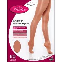 Silky Dance Shimmer Footed Panty kinderen