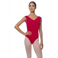 Lulli Dames Kapmouwtjes Balletpak Reyton dark rood
