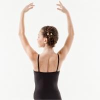 Sansha Zwart Basis Balletkleding voor Meisjes en Spaghettibandjes