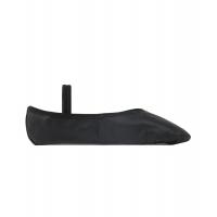 zwarte balletschoen van leer SoDanca BAE90 met elastiekje