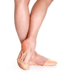 Dansvoetjes - Ritmisch gymnastiek - Moderne dans - Leer - Suède zool - Roze/huidskleur - So Danca BA42
