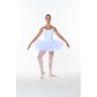 Dames tutu met vast balletpak wit Dansez-Vous Poema