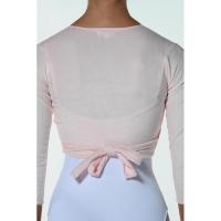 Ballet wikkelvestje roze Dansez-vous Fluffy