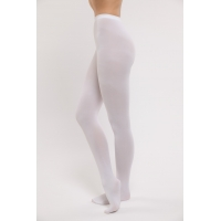 Dansez-Vous P100 footed balletpanty platte taille kinderen wit