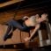 Dansez-Vous P100 footed balletpanty platte taille kinderen zwart voorbeeld