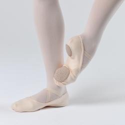 Dansez-Vous Lila Elastische Balletschoenen met Splitzool