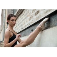 Dansez-Vous elastische canvas balletschoenen Lila met splitzool