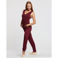 Temps Danse Dames Wrap Jumpsuit Adage bordeaux
