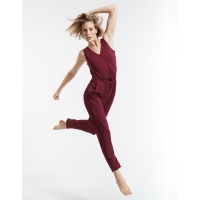 Temps Danse Dames Wrap Jumpsuit Adage bordeaux run